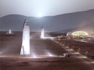 Elon Musk talks 'BFR,' Mars at space conference