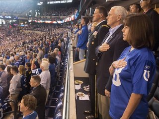 Pence leaves NFL game after players kneel