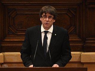 Catalan president sort of declares independence