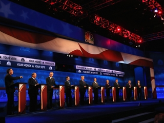 Biggest fight of debate: candidates vs. media