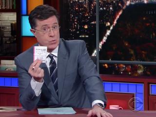 Stephen Colbert's advice for winning Powerball