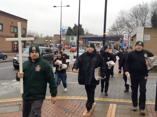 British political group holds 'Christian patrol'