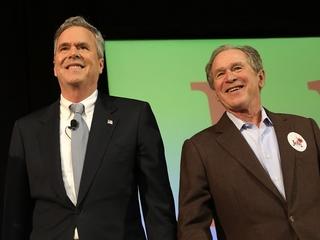 George W. Bush (finally) campaigns for Jeb