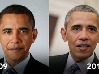 Watch how the presidency aged Obama