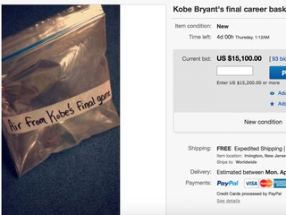 You can buy air from Kobe Bryant's last game