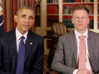 Macklemore, Obama talk about addiction