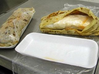 Those aren't burritos; that's $3,000 in meth