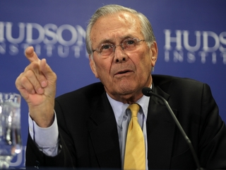 Donald Rumsfeld says he'll vote for Donald Trump