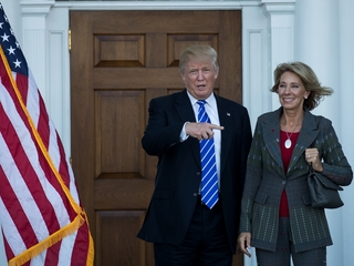 Public teachers oppose Trump's ed secretary pick