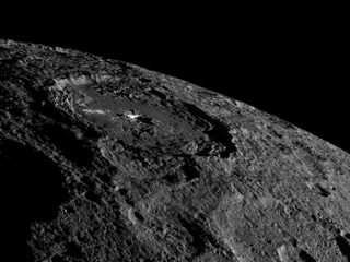 Water ice found on surface of Ceres