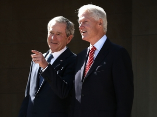 Presidents Bush, Clinton to attend inauguration