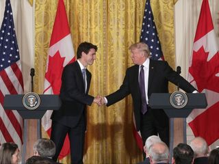 Trump welcomes Trudeau to White House