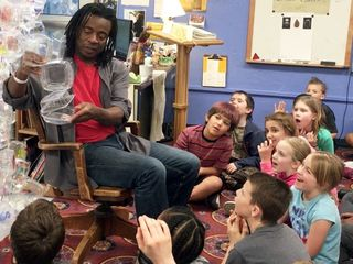 Students learn about black history and recycling