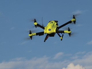 Drones might beat ambulances to emergencies