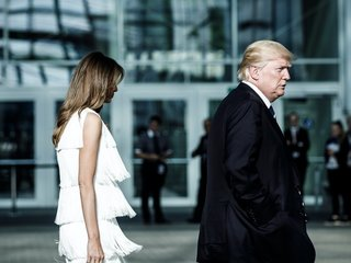 G-20 protests confine Melania Trump to her hotel