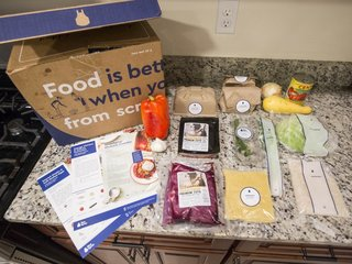 Fearing Amazon meal kits, Blue Apron stock drops
