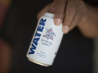 Companies give water after Hurricane Harvey