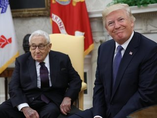 Trump meets with Henry Kissinger