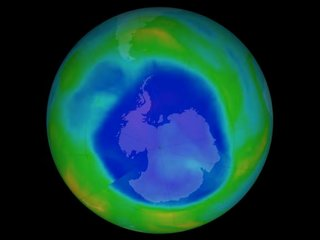 Antarctic ozone hole at its smallest since 1988