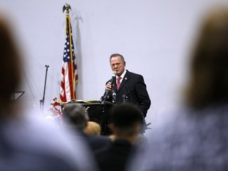 Roy Moore says he's being 'harassed' by media