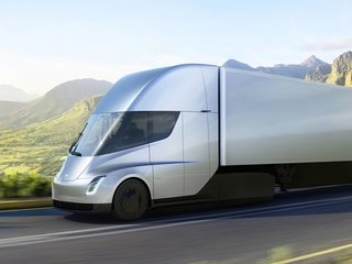 Tesla unveils electric semitruck
