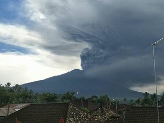 Bali volcano erupting for first time in decades