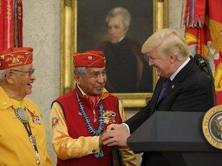 Trump makes 'Pocahontas' joke to Navajo veterans