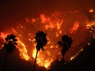 Brush fire scorches Southern California