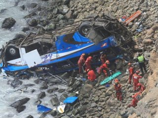 At least 48 dead in Peru bus crash