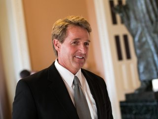 Sen. Jeff Flake says Trump is hard on media