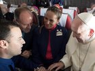 Pope Francis marries couple on an airplane
