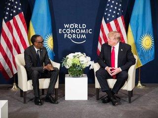 Trump meets with Rwandan president