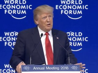 Trump talks US economy, trade in Davos speech