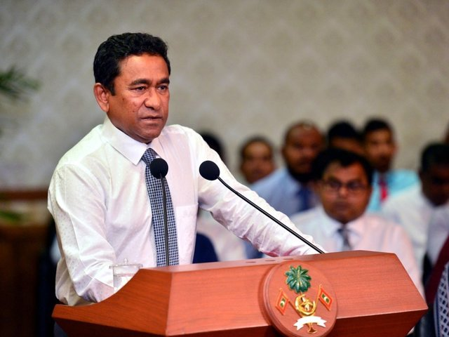 In the Maldives state of emergency