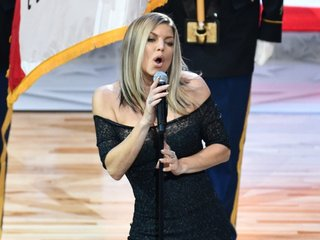 Fergie addresses national anthem at NBA game