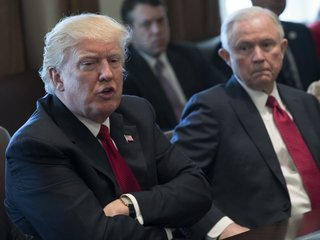 Trump lashes out at Sessions over Russia probe