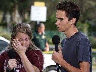 Florida survivors at center of conspiracy theory