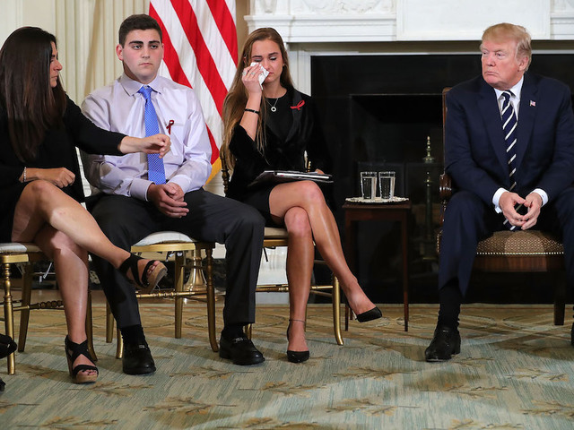 Trump pushing to 'finally do something' on guns