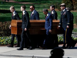 Trump and other leaders attend Graham's funeral