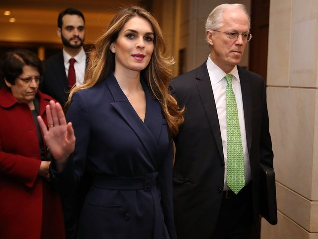 Hope Hicks told House intel committee her email was hacked