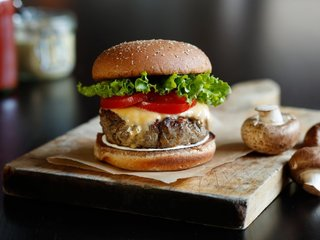 All-American burger gets a mushroom makeover