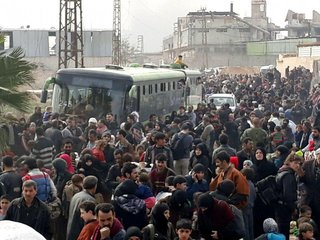 As many as 12,500 escaped Eastern Ghouta in day