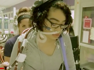 The girl on life support who walks, eats tacos