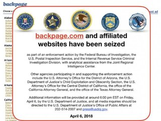 Classified ad website backpage.com seized
