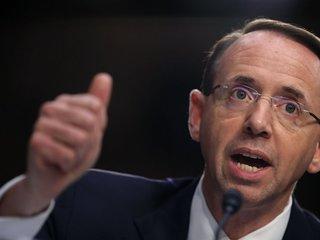 Rosenstein tells Trump he's not a Mueller target