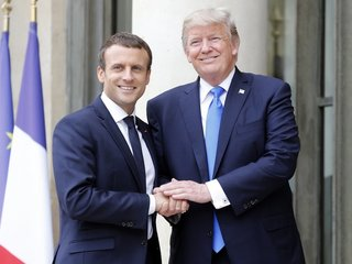 Is the Trump-Macron bromance on?
