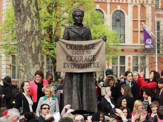First statue honoring woman in Parliament Square