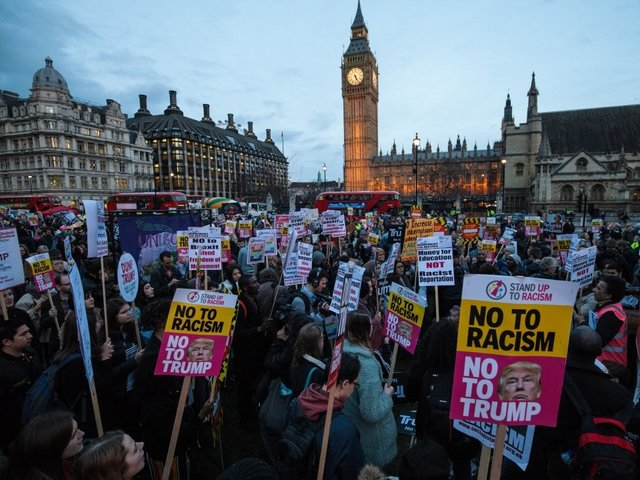 Tens of thousands sign up to protest against Trump's United Kingdom visit