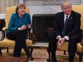 Trump meets with German Chancellor Angela Merkel
