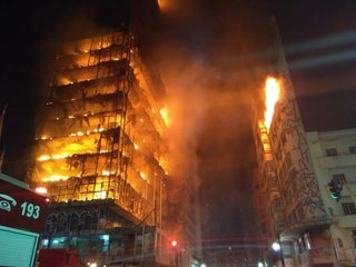 1 dead after fire engulfs high-rise in Brazil